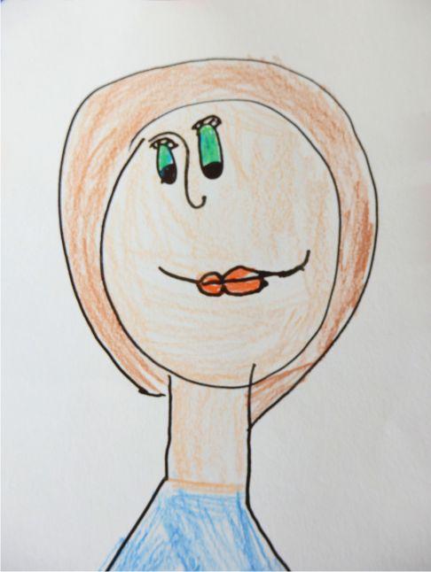 Bětka kreslila maminku