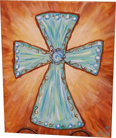 Cross Paintings On Canvas | Cross on Canvas . Enjoy creating a beautifully designed canvas cross ...
