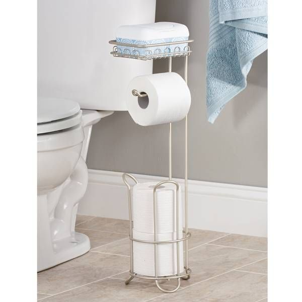 The Stylish Interdesign Classico Toilet Paper Roll Stand Plus Offers  Space Saving Bathroom Storage. Holds Two Spare Rolls Of Toilet Paper And  One Roll For ...