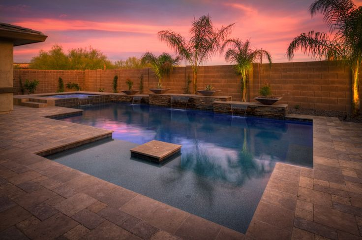 1537 best awesome inground pool designs images on for Pool design phoenix