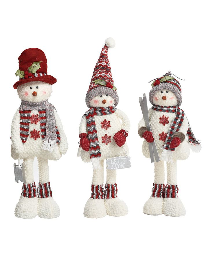 Loving this Large Plush Nordic Standing Snowman Figurine - Set of Three on #zulily! #zulilyfinds