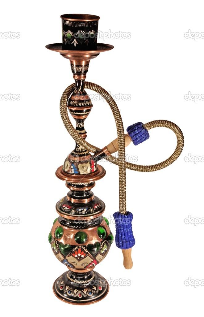 Copper hookah for Harem Room