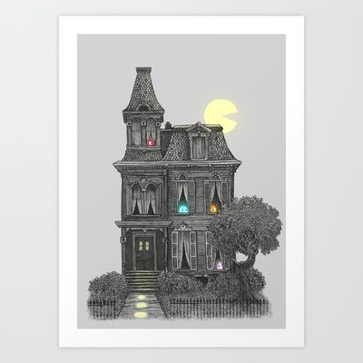Haunted by the 80's Art Print by Terry Fan - $18.00