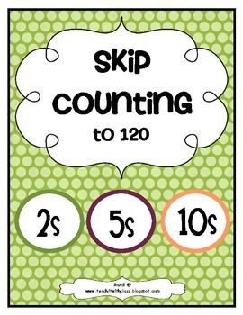 Skip Counting Freebie.  Grab this FREEBIE and practice skip counting by 2s, 5s and 10s. The activity cards and practice pages have been updated to 120 to reflect CCSS. The activity is not themed so it will be perfect for all year!   Download at:  https://www.teacherspayteachers.com/Product/Skip-Counting-Freebie-190739
