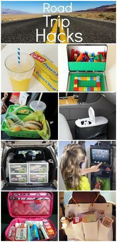 Family vacation ideas. Road Trip Hacks - using them this weekend!! GREAT Ideas for the car for kids!