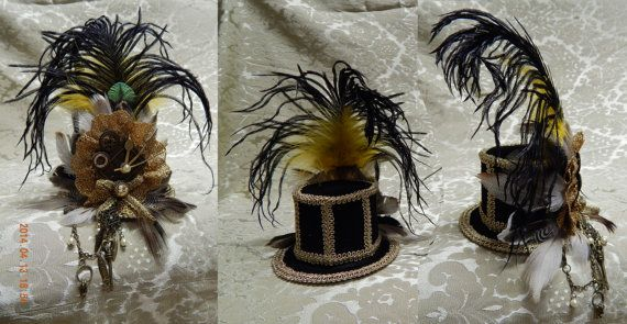 Steampunk Minihat by CarnevaleCasetta on Etsy