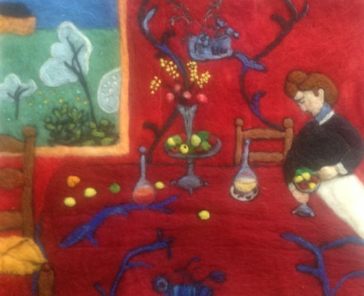 "Leitura em lã "" Matisse"" - La Desserte Rouge."