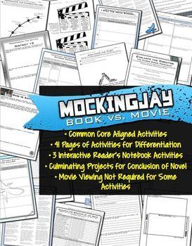 #MOCKINGJAY book vs. movie activities - Common Core-aligned #MockingjayPart1