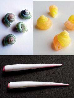 Shell beads tutorial 1 | da Primatoide ~ Polymer Clay Tutorials