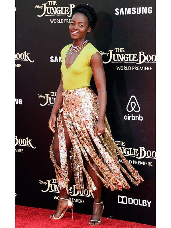 Lupita Nyong'o car wash skirt