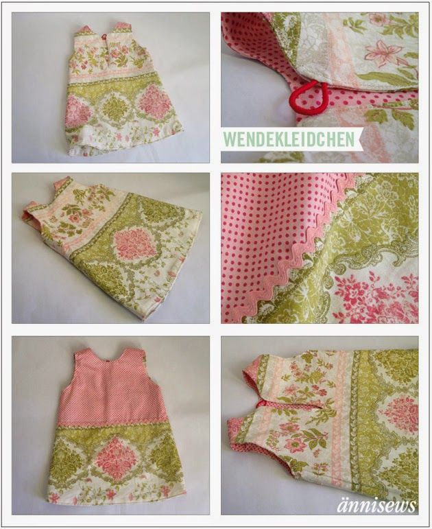 Kinderkleid aus Sofaüberwurf / Girls' dress made from couch cover / Upcycling