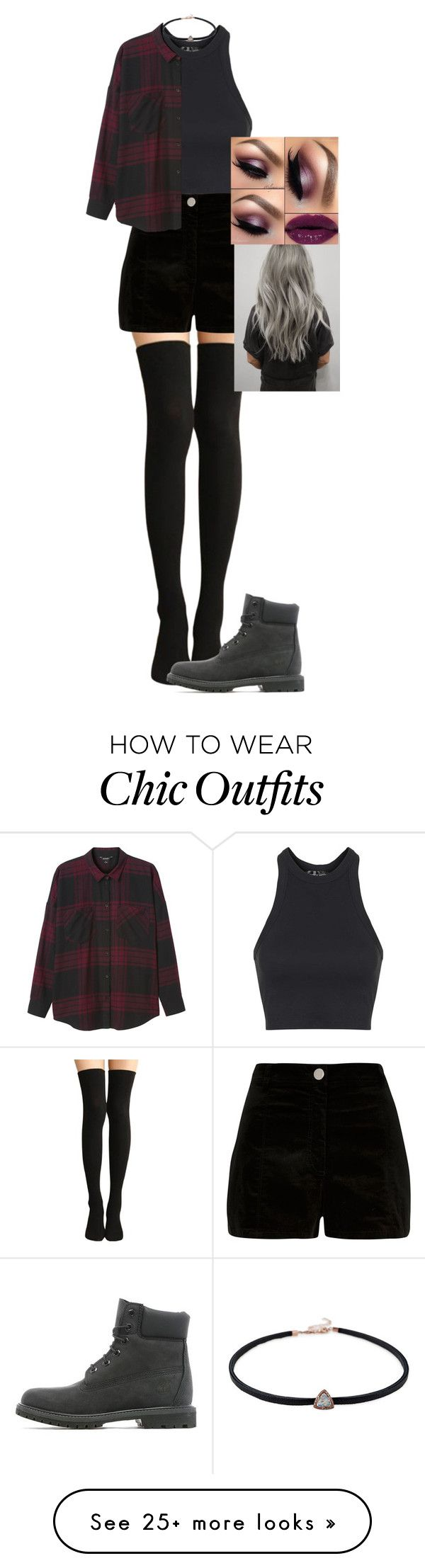 """Empty!"" by pieeella on Polyvore featuring Topshop, River Island, Monki and Timberland"