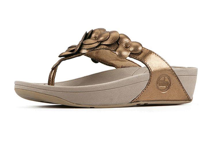 Fitflop Fleur Woman Sandals Bronze