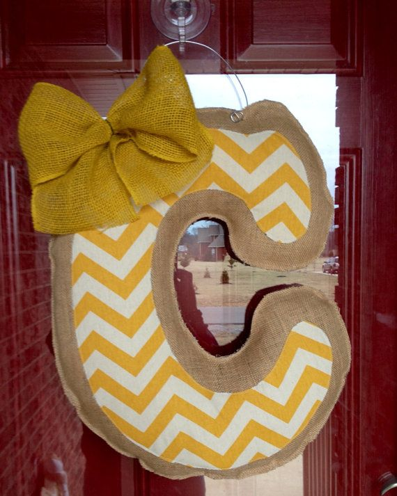 Hey, I found this really awesome Etsy listing at http://www.etsy.com/listing/177821797/burlap-chevron-initial-door-hanger