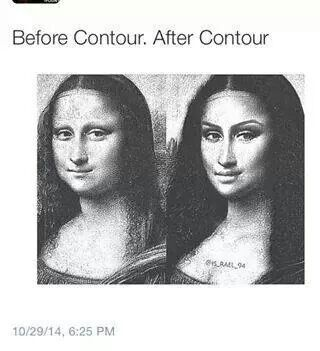 Before & after contouring :-D Mona Lisa