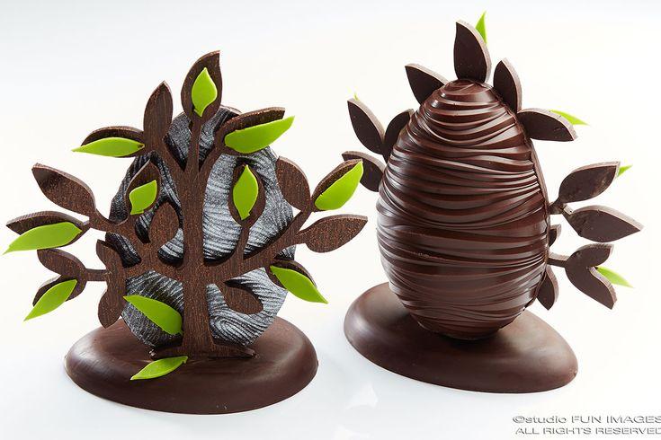 Pâques 2016 - Alain Chartier - Demi-œuf en chocolat bio