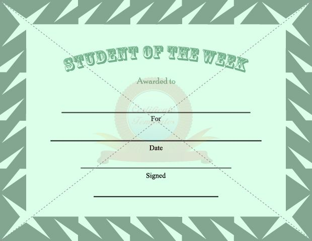 1000 images about certificate template on pinterest for Student of the week certificate template free
