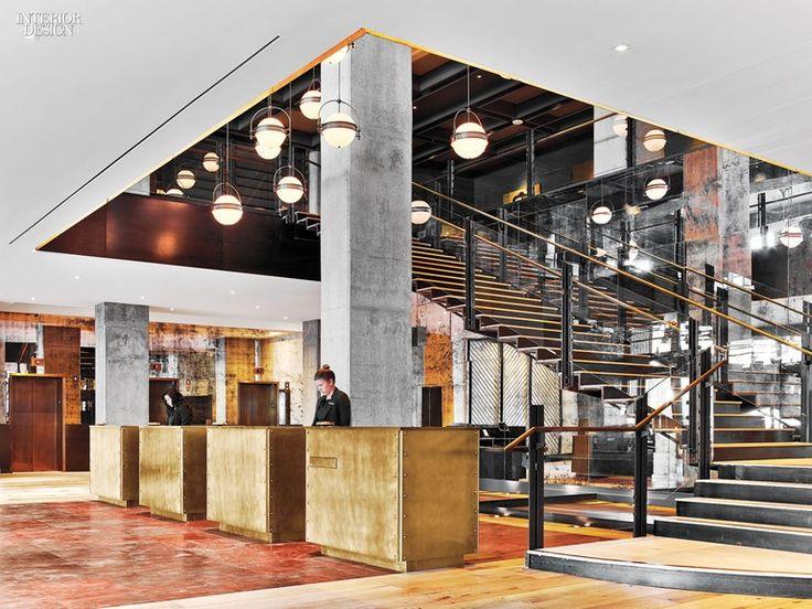 Mark Zeff Riffs On Austins Musical Heritage At The Hotel Van Zandt Lounge DesignHotel DecorInterior Design MagazineStaircase