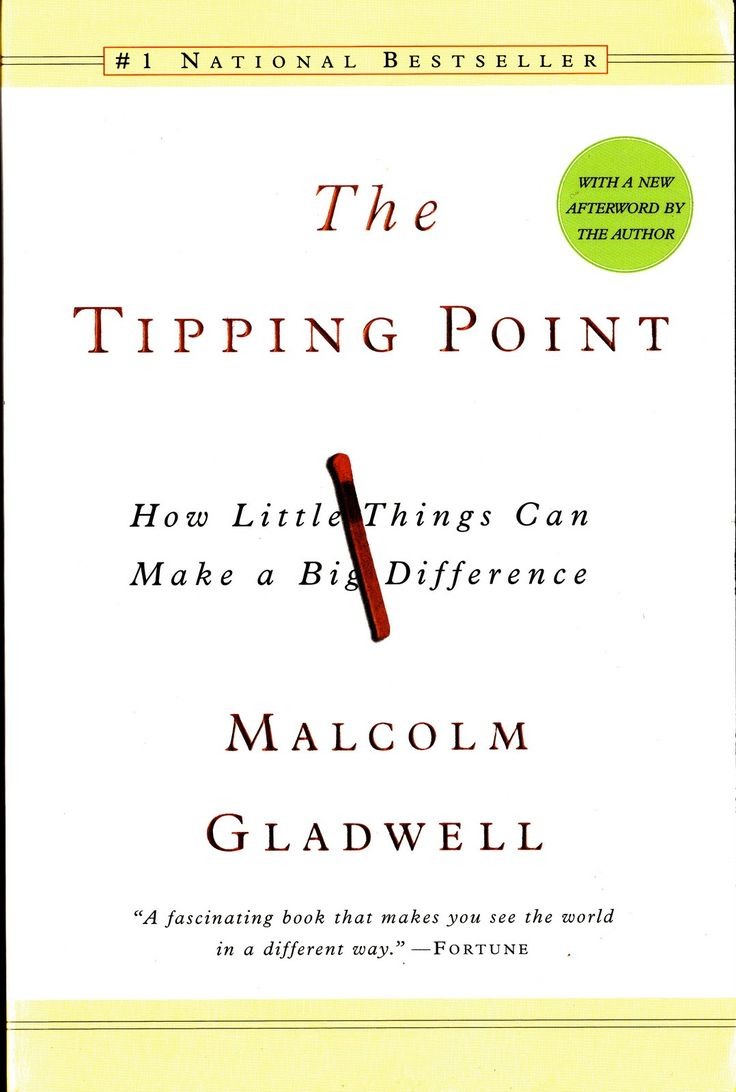 """One of our favorite books about change and marketing: """"The Tipping Point"""" by Malcolm Gladwell"""