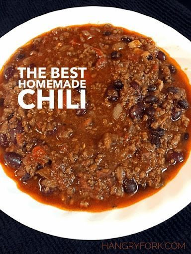 The Best Homemade Chili With Bacon, Onions, Red Bell Pepper, Green Bell Pepper, Garlic, Chili Powder, Ground Cumin, Paprika, Chipotle, Dried Oregano, Salt, Cayenne, Ground Beef, Beer, Black Beans, Red Kidney Beans, Crushed Tomatoes, Diced Tomatoes