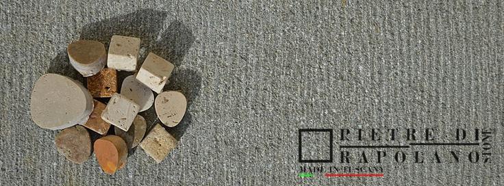 Mosaics chips on Macigno Gavoni Scalpellato