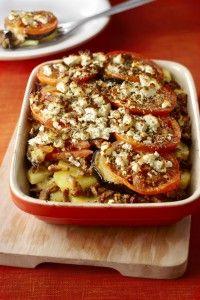 Ovenschotel met shoarma, aubergine en tomaat - Boodschappen