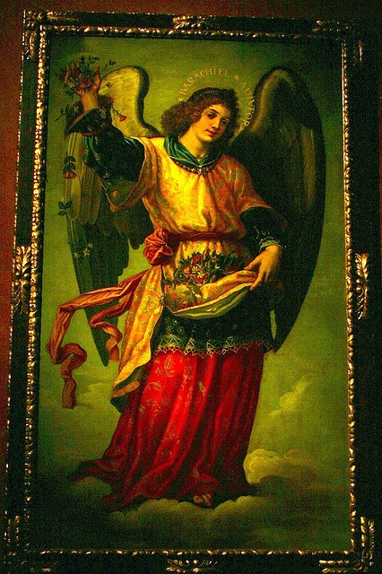 Arcángel Barachiel by Enriqueluis-angel of blessings; carries an abundant basket of bread, the staff of life, symbolizing Christian parenthood;intercedes in prayer before God for people in need; also guardian & provider of God's adopted children.