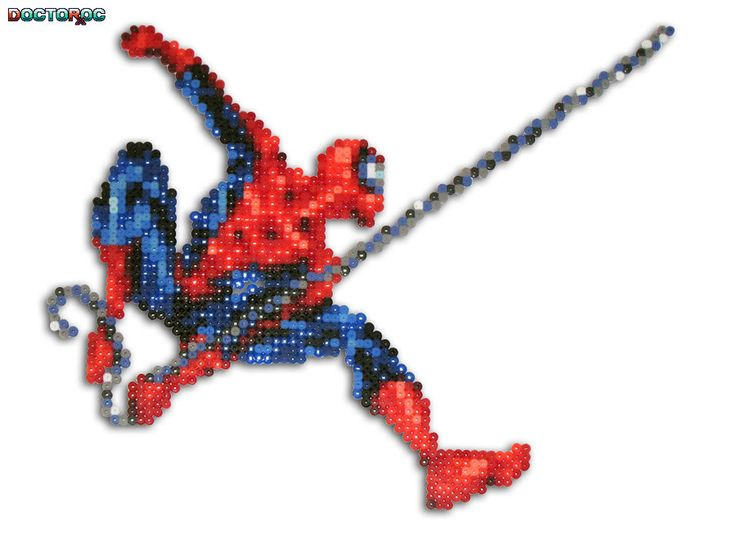 Hama Beads Spiderman: Spider Man Bead Sprite By DrOctoroc