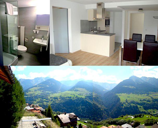 Renovierte, bewirtschaftete Zweitwohnung in Cumbel, Val Lumnezia, zu vermieten. Kontaktieren Sie uns für mehr Informationen.