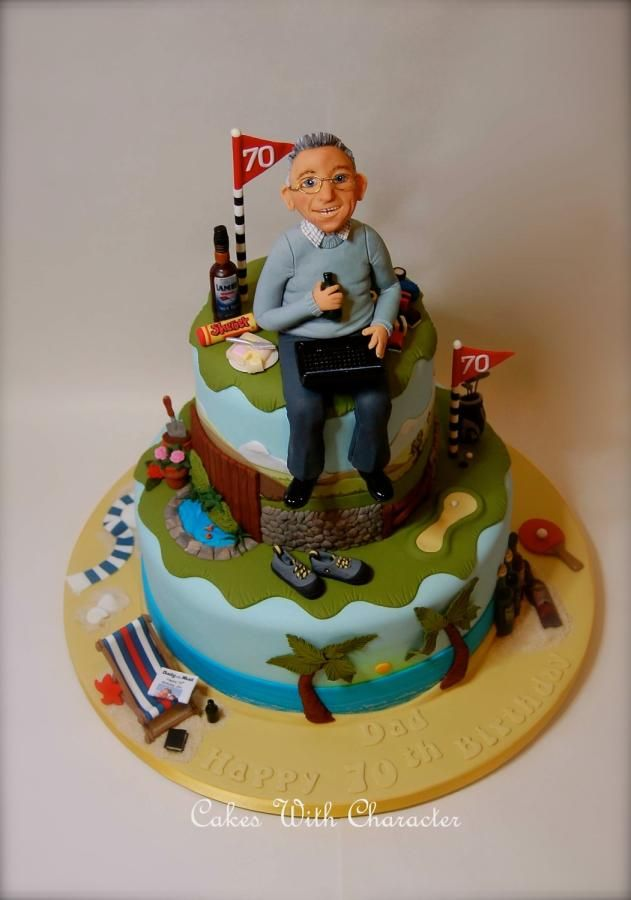 23 Best Cake For Dad 75 Images On Pinterest 70 Birthday