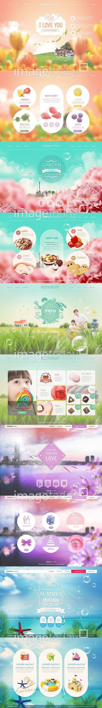 #웹콘텐츠 #PSD #UI #계절 #과일 #구름 #꽃 #딸기 #레몬 #백그라운드 #버튼 #봄 #분홍색 #식물 #아웃포커스 #아이콘 #웹사이트…