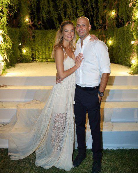 """Pin for Later: Die 27 unvergesslichsten Promi-Hochzeiten von 2015 Bar Refaeli und Adi Ezra Im September sagte das Supermodel in Israel """"Ja""""."""
