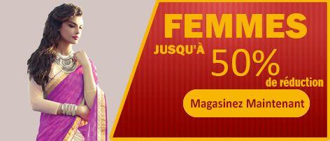 Les remises sur les robes de créateurs indiens, jusqu'à 50% de rabais sur Liquidation Articles en solde à Paris, France