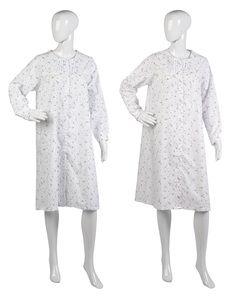 Ladies Slenderella Floral Button Through Nightdress UK 10-22 (Blue or Pink)