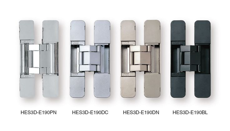 Concealed Door Hinges - Heavy Duty Invisible - SUGATSUNE - Multiple Finishes Available