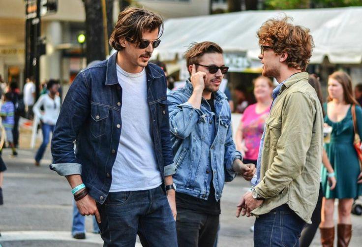 Cómo llevar la chaqueta vaquera, jeans para hombres bajitos
