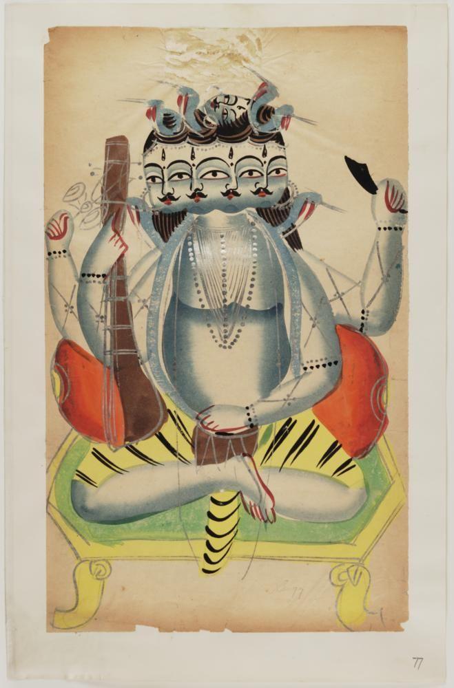 Kalighat paintings - Panchanan