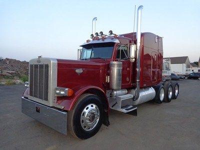 Peterbilt Heavy Haul for Sale   ... Peterbilt 379 Extended Hood Heavy Lowboy Hauler Truck for sale in