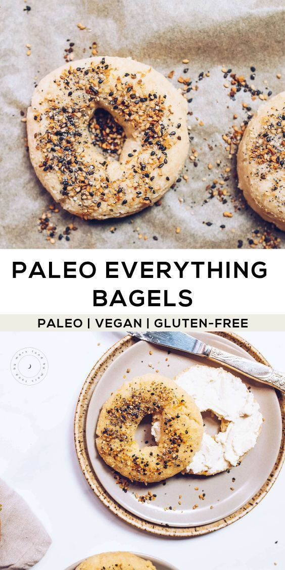 Paleo Everything Bagels (Egg-free, Vegan)
