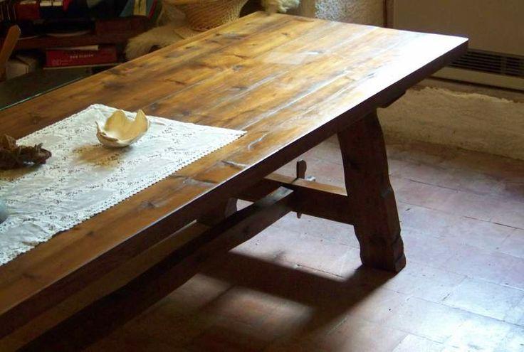 Tavolo fratino grandi dim. legno massello... a Piacenza - eBay Annunci