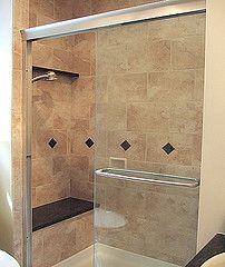 Bathroom Ideas On A Budget Tuscan Rustic Tile Bath With Sliding Glass Door