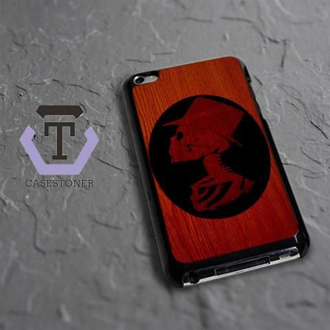 Wood Skeleton Black Silhouete iPod 4 Black Case