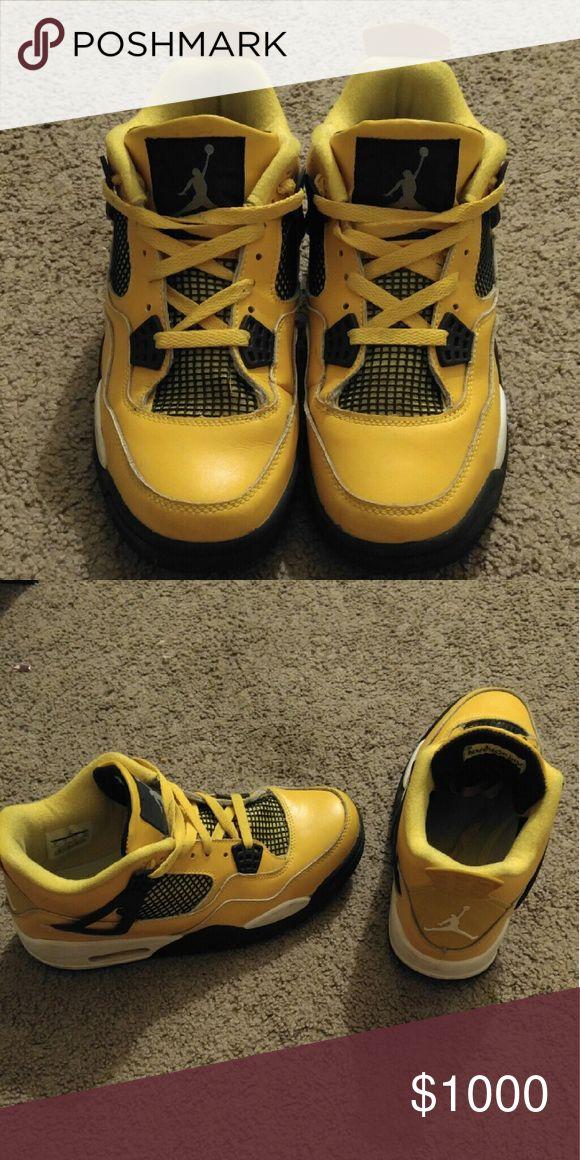 Lightning 4s air Jordanu0027s. Size 8 Perfect condition. Worn a couple times. Over & Die besten 25+ Expensive jordans Ideen auf Pinterest   Neue retro ... azcodes.com
