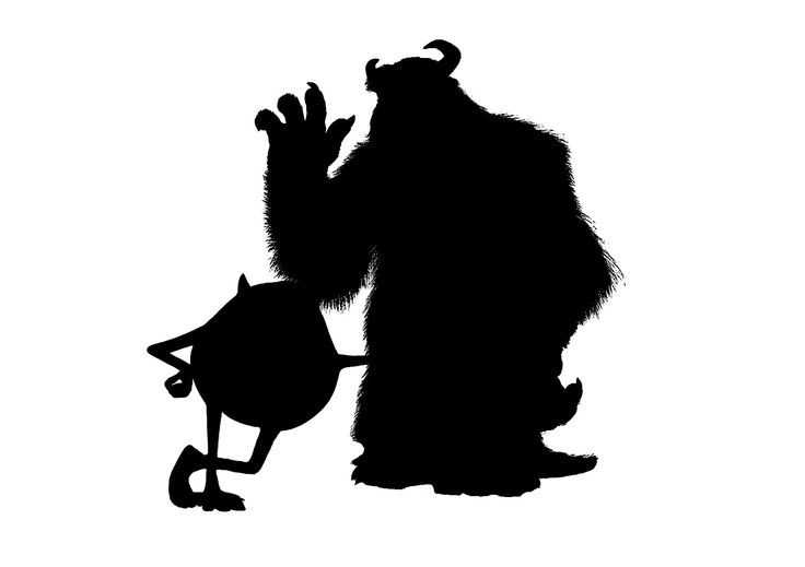 monster inc silhouette - Google Search