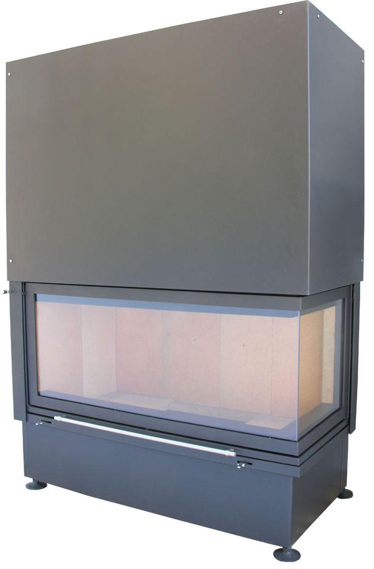 Urządzenie grzewcze marki Kwline o szerokości fasady 100 cm, z dodatkowym bocznym przeszkleniem - E 1000 G Corner