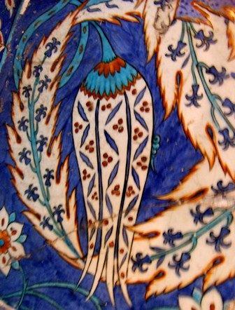Rüstem Paşa Camii çini detayı