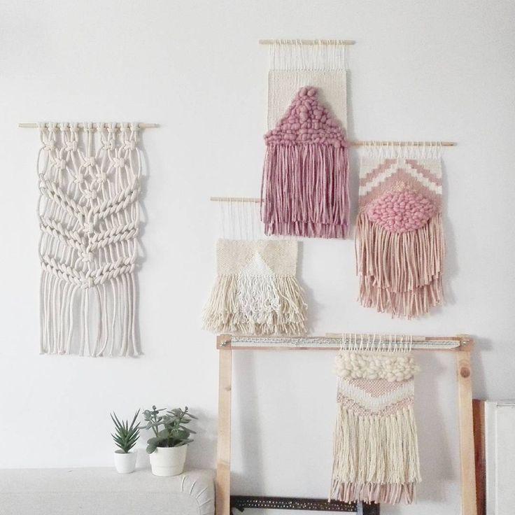 "Polubienia: 258, komentarze: 9 – Jadzia Lenart (@jadzialenart) na Instagramie: ""Pastel gang   #wovenwallhanging #handwoven #walldecoration #wallart #wallhanging #weavingaddict…"""