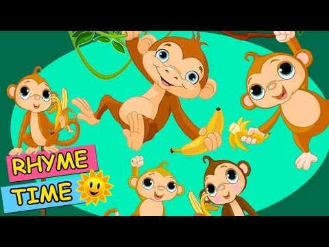 Five Little Monkeys Jumping On the Bed (HD) - Rhyme Time ...
