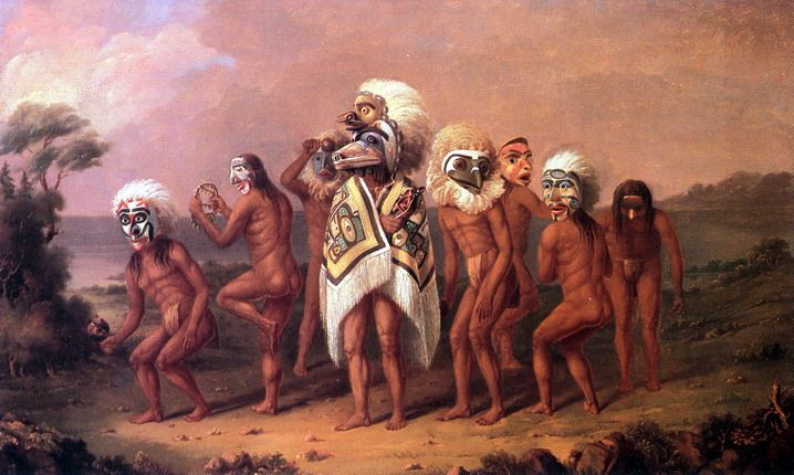 Medicine Mask Dance by Paul Kane