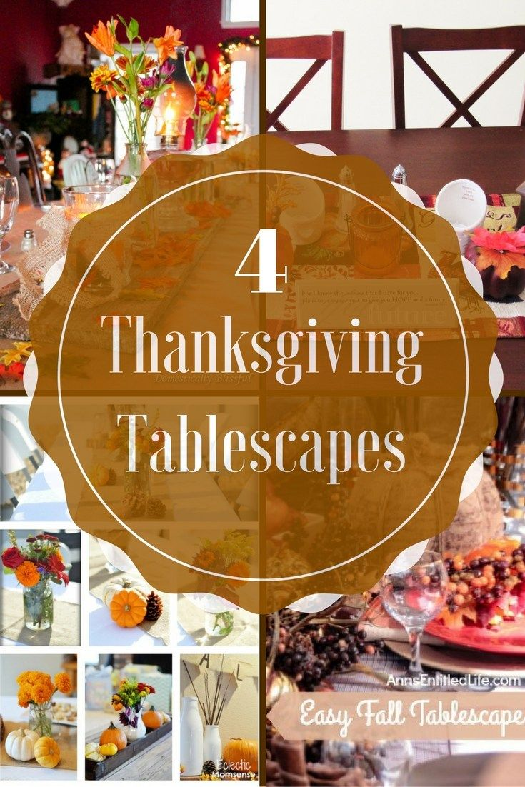4 Easy Tablescapes for Thanksgiving & Fall
